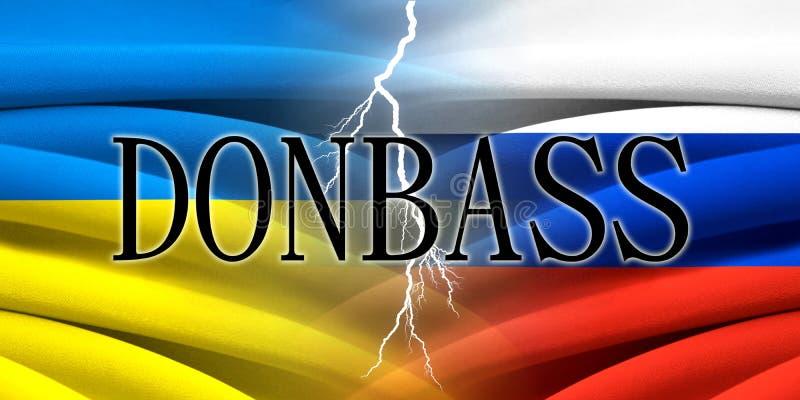 Ukraina VS Ryssland Donbass vektor illustrationer