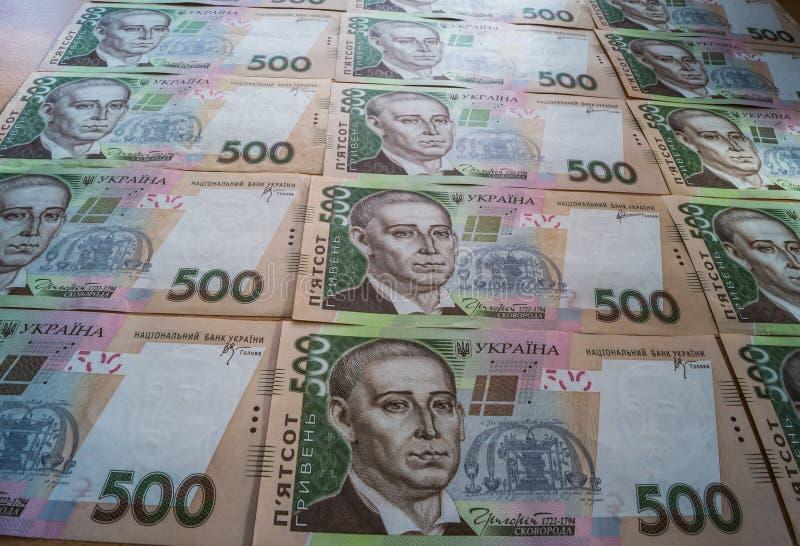 Ukrainare Hryvnia royaltyfria foton