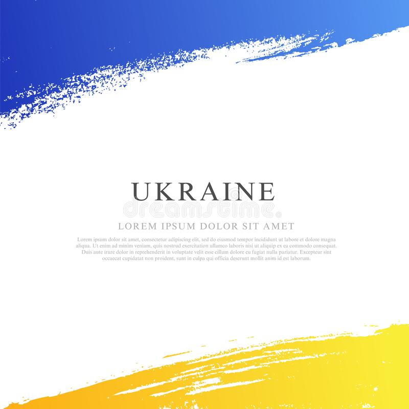Ukrainare sjunker dagsj?lvst?ndighet ukraine stock illustrationer