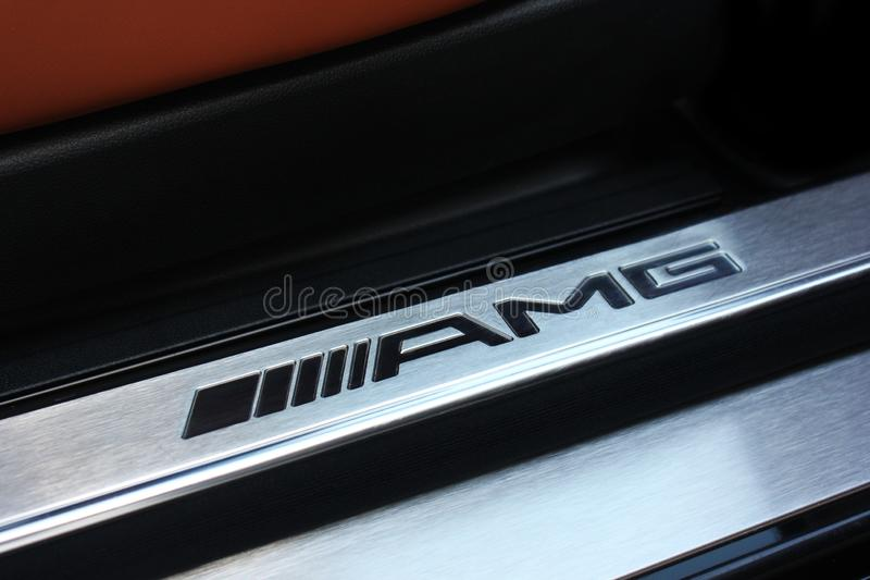 Kiev, Ukraine; June 25, 2013; AMG emblem. Mercedes logo. stock photography
