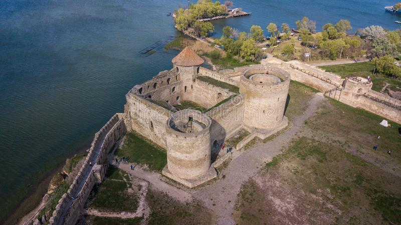 Ukraine. Belgorod-Dniester. View of the Akkerman fortress from the drone. Types of Ukraine. Tourism in the country. Ukraine. Belgorod-Dniester. View of the royalty free stock photo