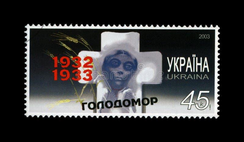 Famine of 1932-33 in Ukraine, circa 2003,. UKRAINE - CIRCA 2003: canceled stamp printed in Ukraine shows famine of 1932-33 in Ukraine, circa 2003. vintage postal stock photography