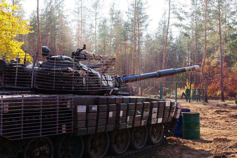 Ukraine Donbass military conflict armed forces and tanks to protect freedom and independence royalty free stock photos