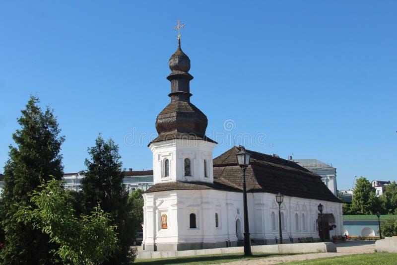 ukraine Eetzaalkerk van St John de Evangelist van het gouden-Overkoepelde Klooster De stad van Kiev stock foto's