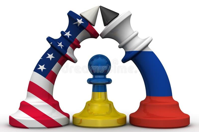 Ukraine - ein Pfand im geopolitischen Spiel Konzept vektor abbildung