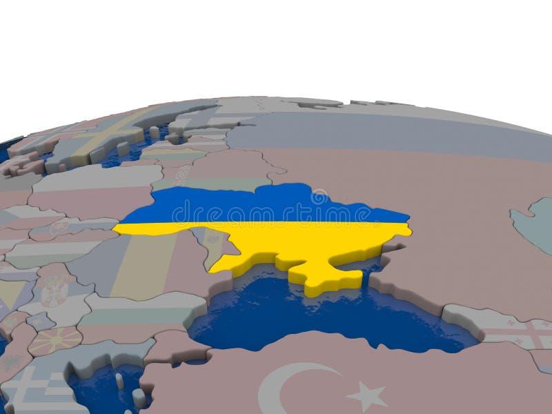 Download Ukraine With Flag Stock Illustration - Image: 83718796