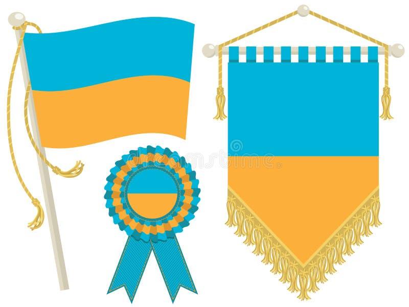 Ukraine Flags Stock Photo