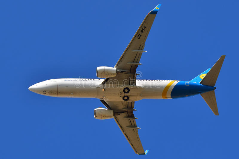 Ukraine International Airlines Boeing 737 obrazy stock