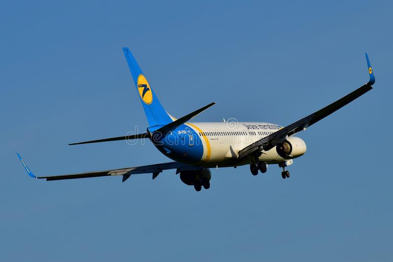 Ukraine International Airlines Boeing 737 images stock