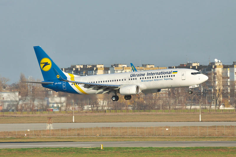 Ukraine International Airlines Boeing 737NG obrazy royalty free