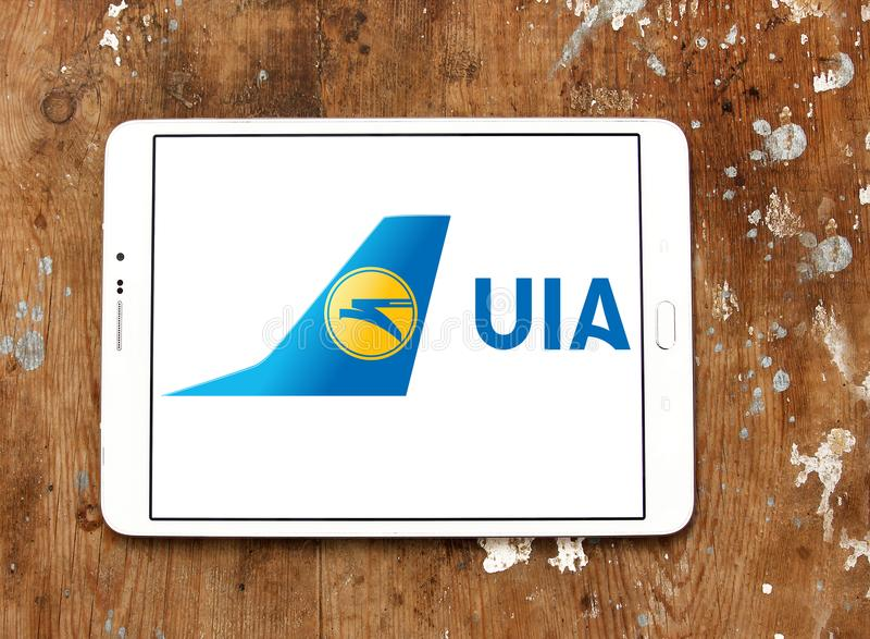 Ukraine International Airlines logo obraz stock