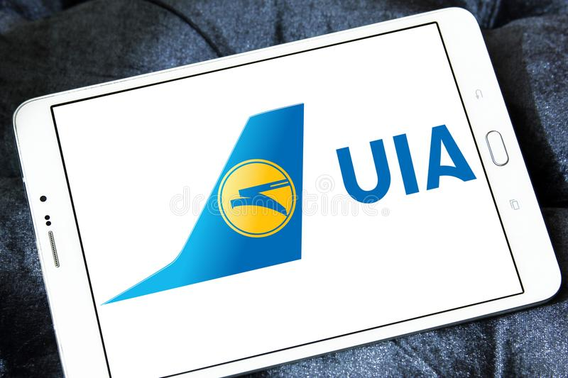 Ukraine International Airlines logo zdjęcia stock