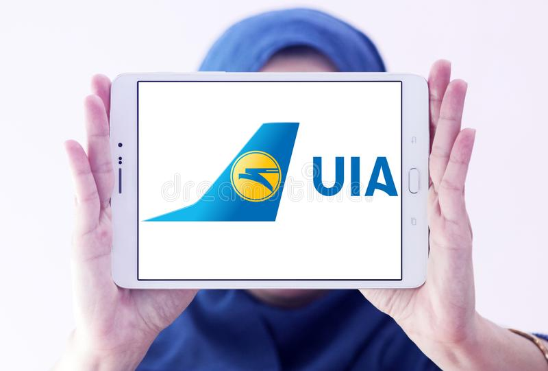 Ukraine International Airlines logo obraz royalty free