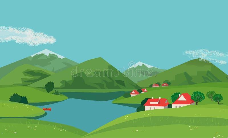 ukraine karpaty krajobrazowa halna dolina fotografia stock