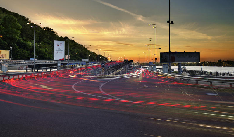 Ukraine, Kiev. Bridges. transport interchange stock images