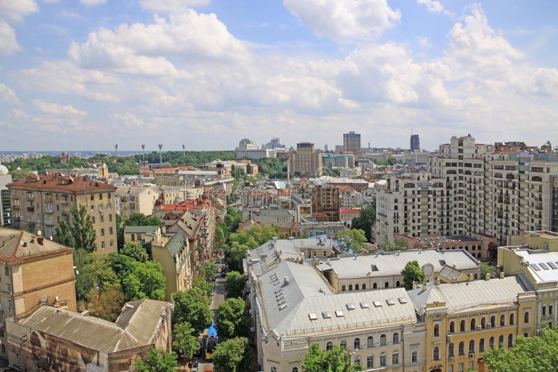 Ukraine. Kiev. City veiw royalty free stock photos