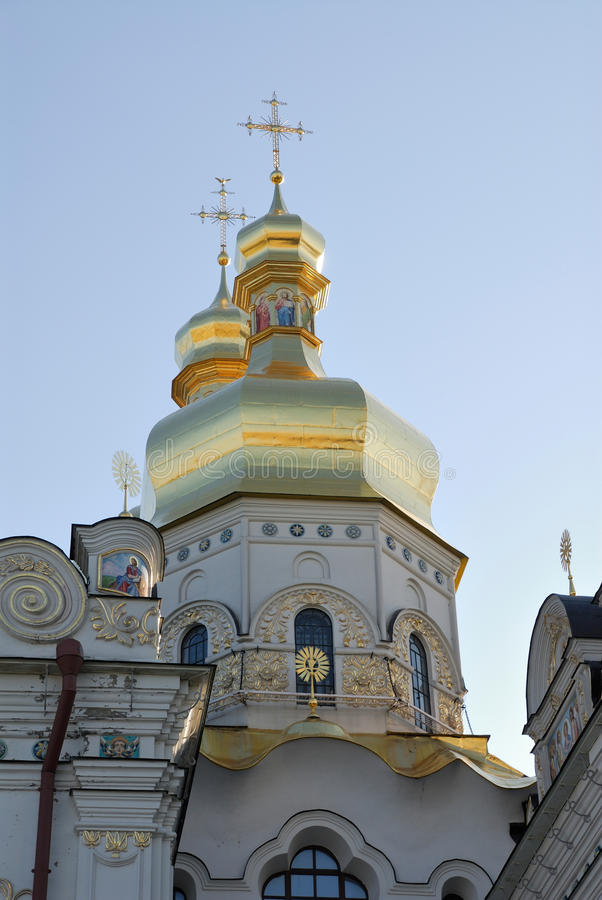 Ukraine. Kiev. Kievo-Pecherskaya lavra. Cathedral stock photos