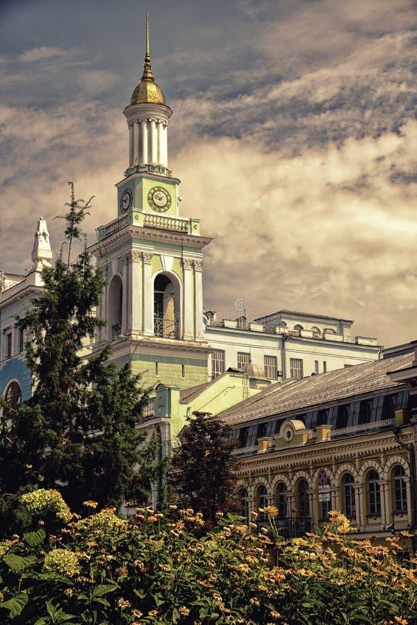 ukraine kiev Kontraktovaya område royaltyfria foton