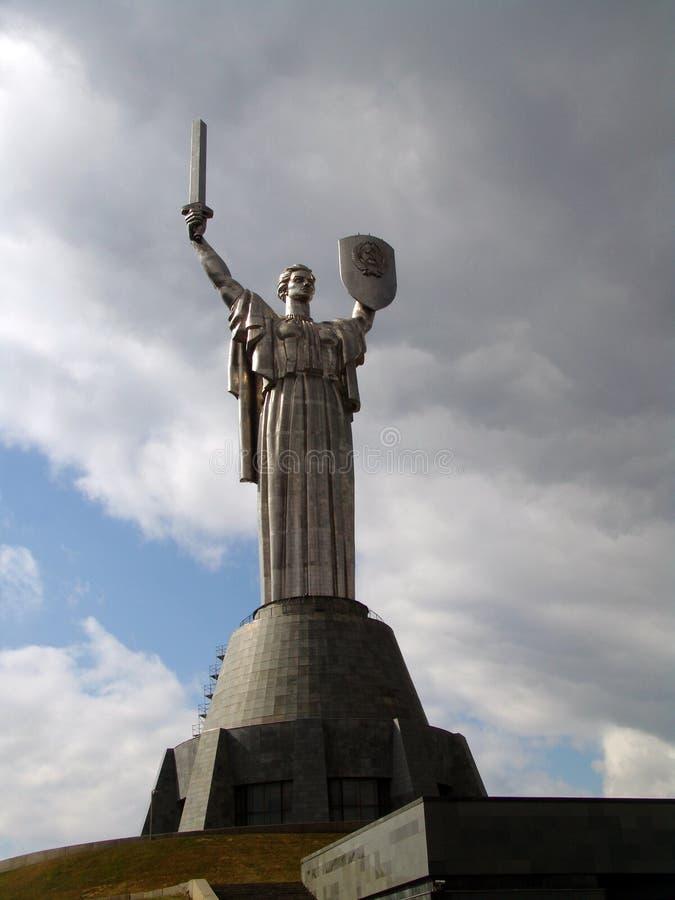 ukraine kiev Minnes- komplex av museet av det stora patriotiska kriget fädernesland royaltyfri bild