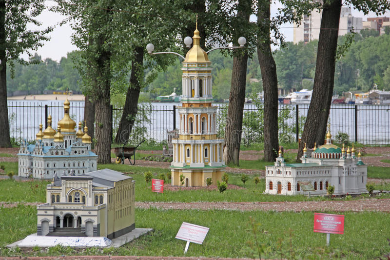 Ukraine. Kiev. Museum of Miniatures. Churchs and cathedrals stock photography