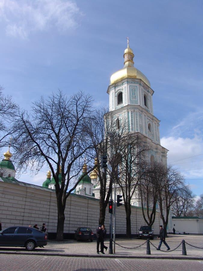 ukraine kiev ukraine HelgonSophia domkyrka balkongdörrpoggioreale fördärvar royaltyfri bild
