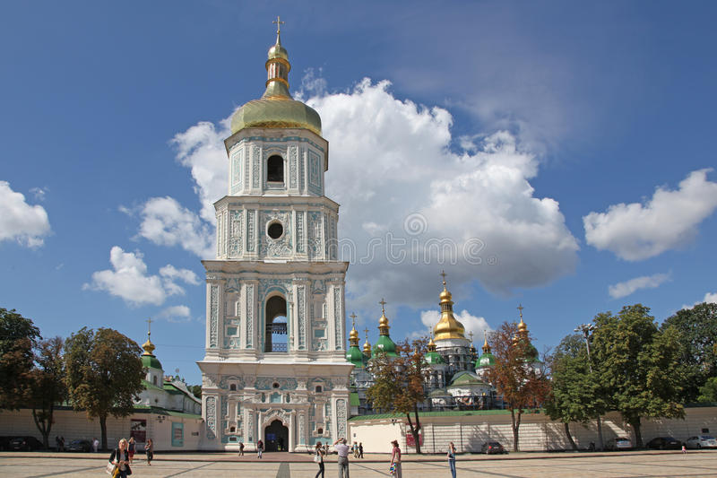 Ukraine. Kiev.Ukraine. Saint Sophias Cathedral. Bell tower stock photo