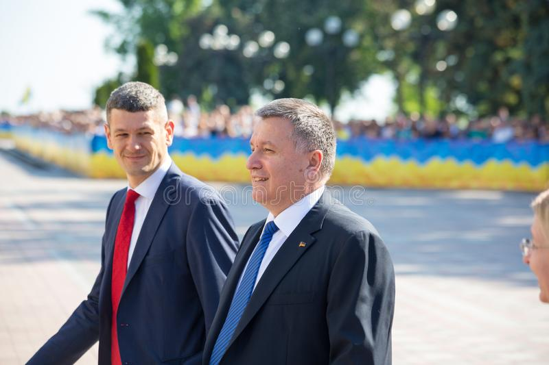 05.20.2019 Ukraine. Kyiv. Arsen Avakov at the inauguration of the President of Ukraine Vladimir Zelensky. stock photos