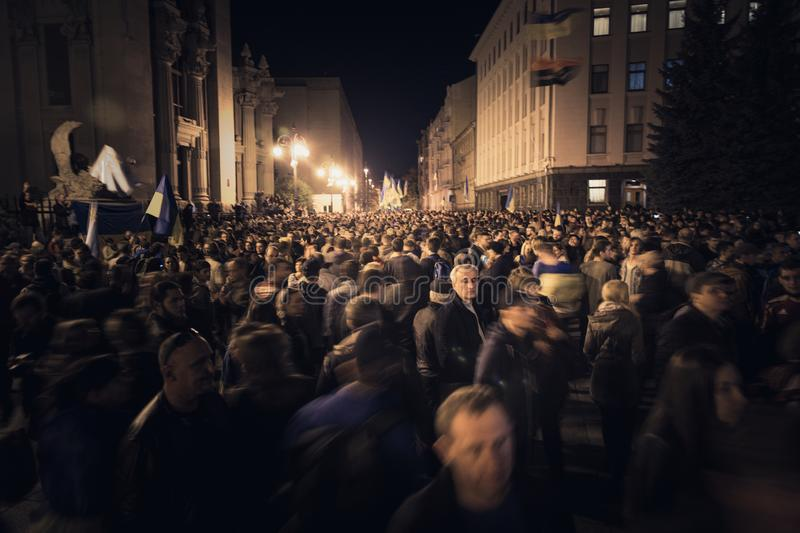 02.10.2019 Ukraine. Kyiv. A protest near the presidential administration of Ukraine. royalty free stock images