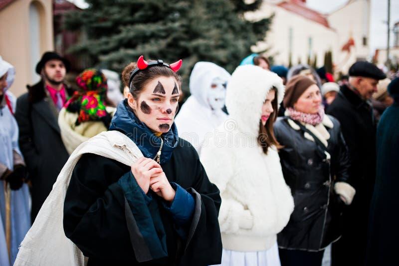 ukraine LVIV - JANUARI 14, 2016: Juljulkrubba royaltyfri fotografi