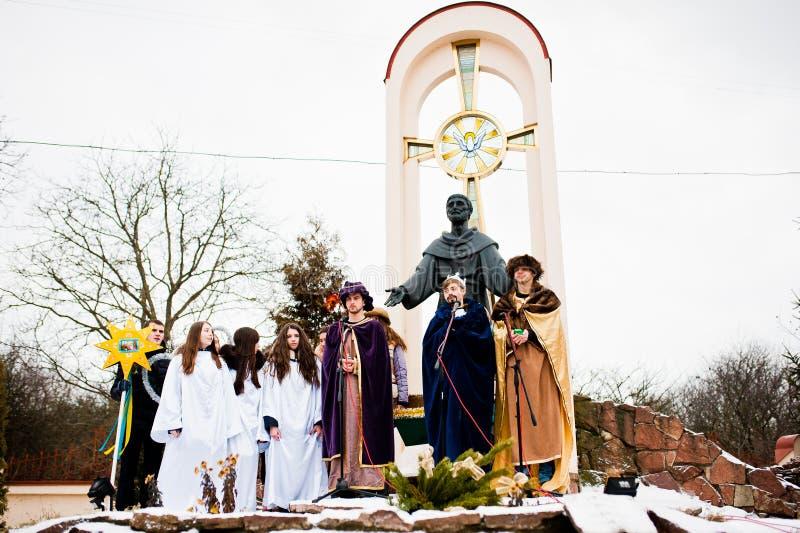 ukraine LVIV - JANUARI 14, 2016: Juljulkrubba royaltyfri bild