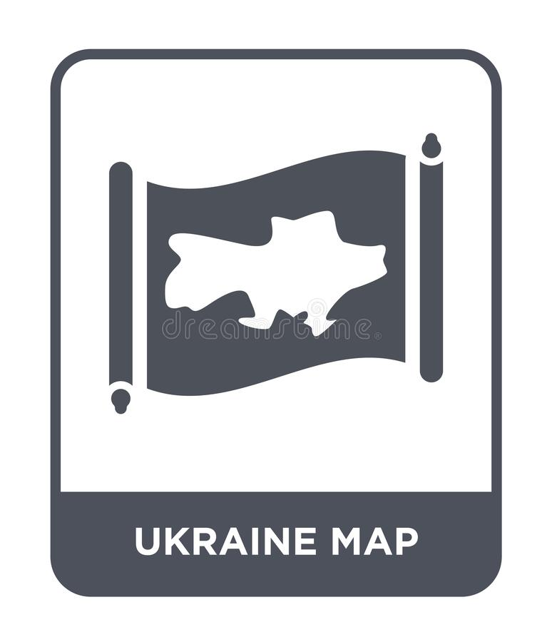 Ukraine map icon in trendy design style. ukraine map icon isolated on white background. ukraine map vector icon simple and modern. Flat symbol for web site vector illustration