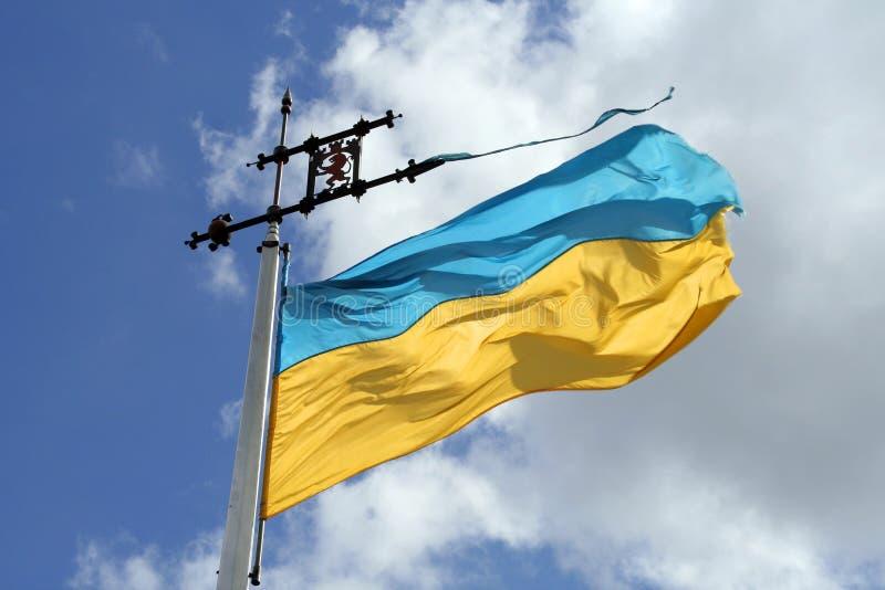 Ukraine-Markierungsfahne lizenzfreies stockbild
