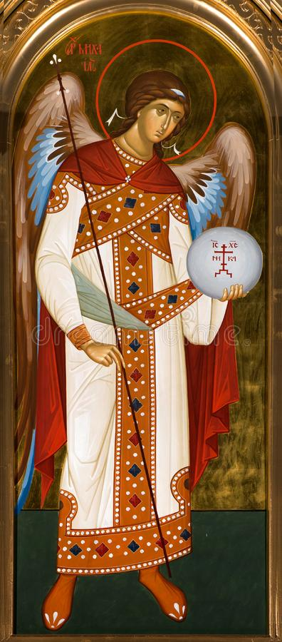 Icon of the Archangel Michael royalty free stock photo