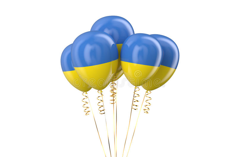 Ukraine patriotic balloons. Holyday concept vector illustration