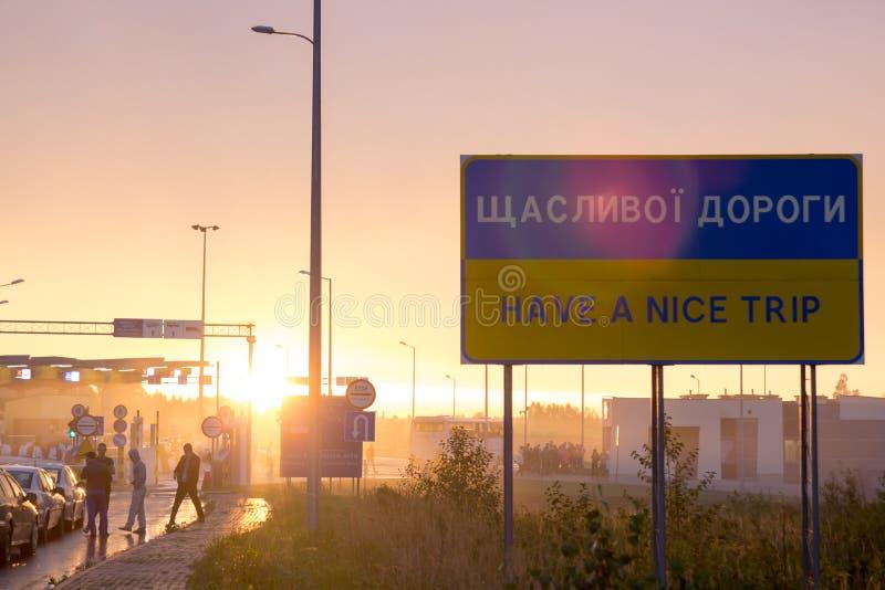 UKRAINE - POLAND BORDER, Budomierz - Hruszow royalty free stock images