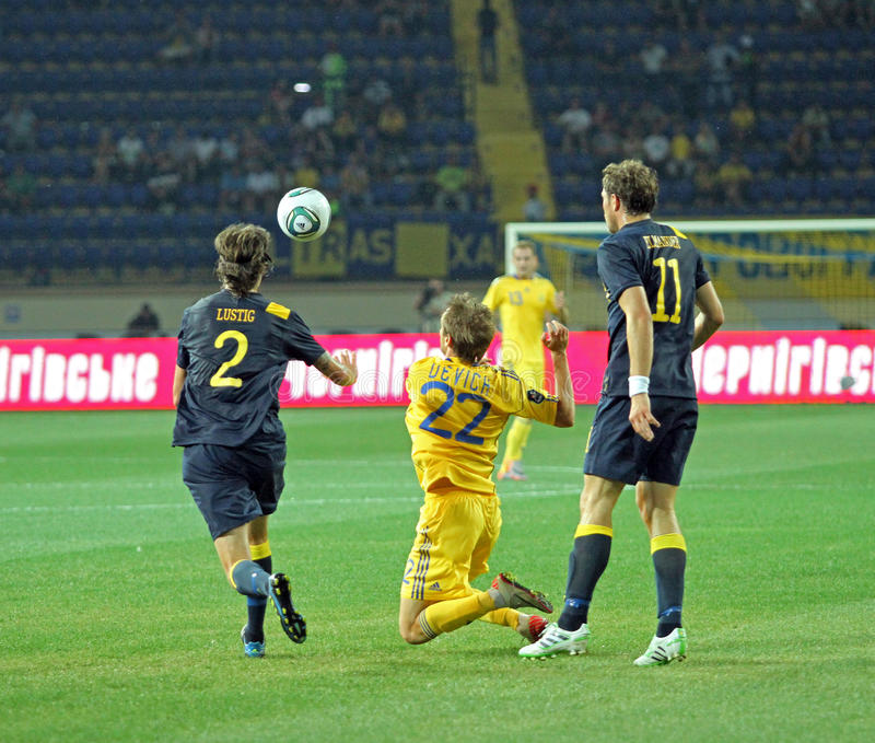 Download Ukraine - Sweden National Teams Football Match Editorial Photo - Image: 20697276