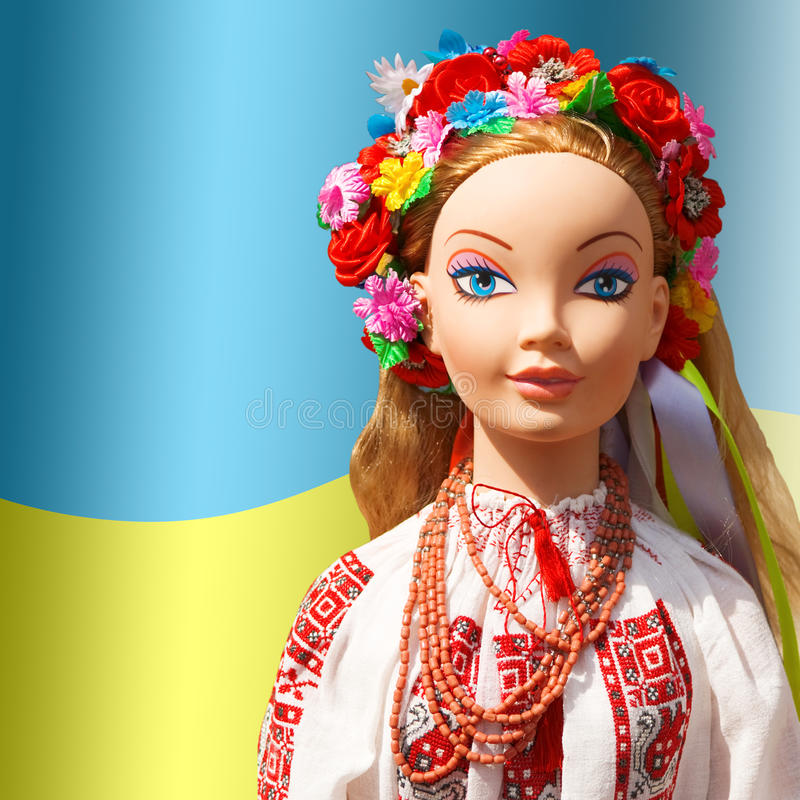 Download Ukraine, Ukrainian girl. stock illustration. Image of dress - 12930517