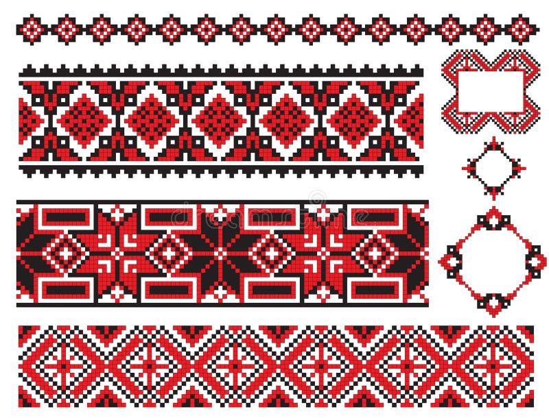 ukrainian вышивки элемента старый иллюстрация вектора