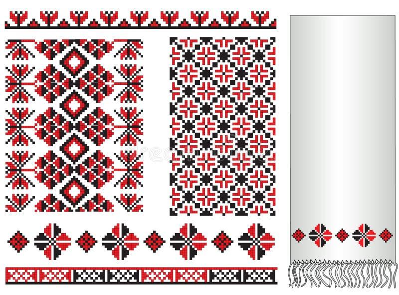 ukrainian вышивки элементов иллюстрация вектора