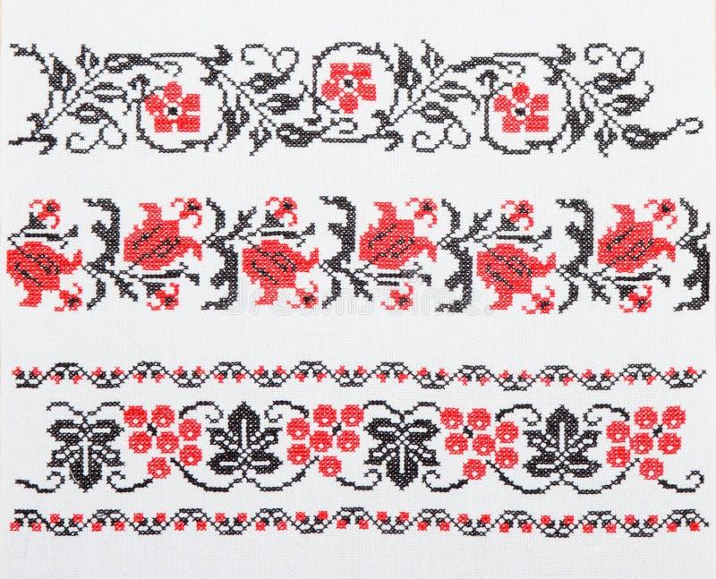 ukrainian полотенца вышивки стоковые фото