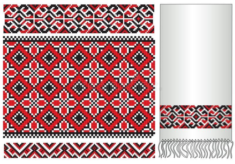 ukrainian полотенца картины вышивки иллюстрация штока
