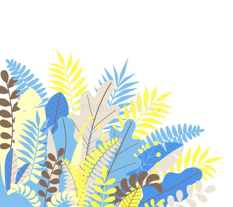 Ukrainian beauty. Nice papercut floral composition in colors of Ukrainian flag. vector illustration vector illustration
