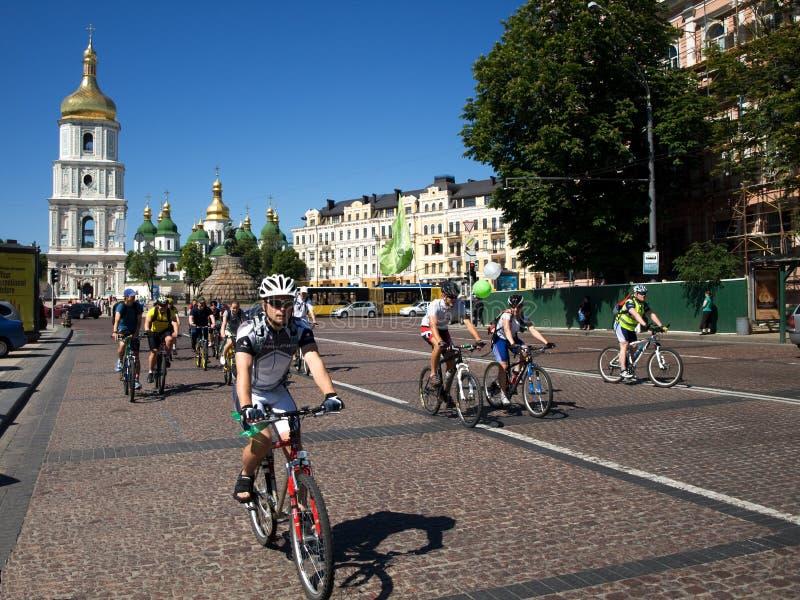 Ukrainian Bike Day royalty free stock image