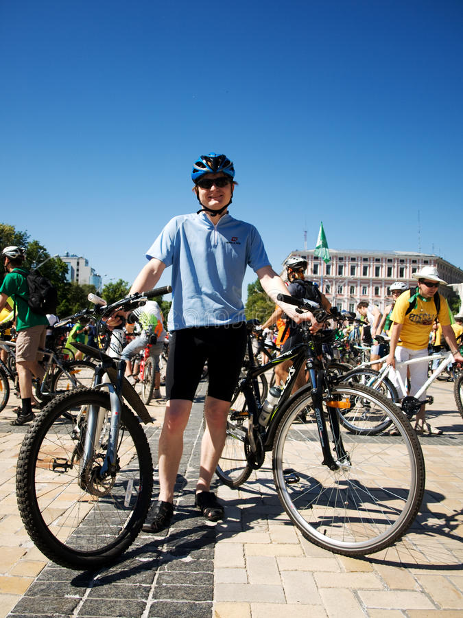 Ukrainian Bike Day stock images