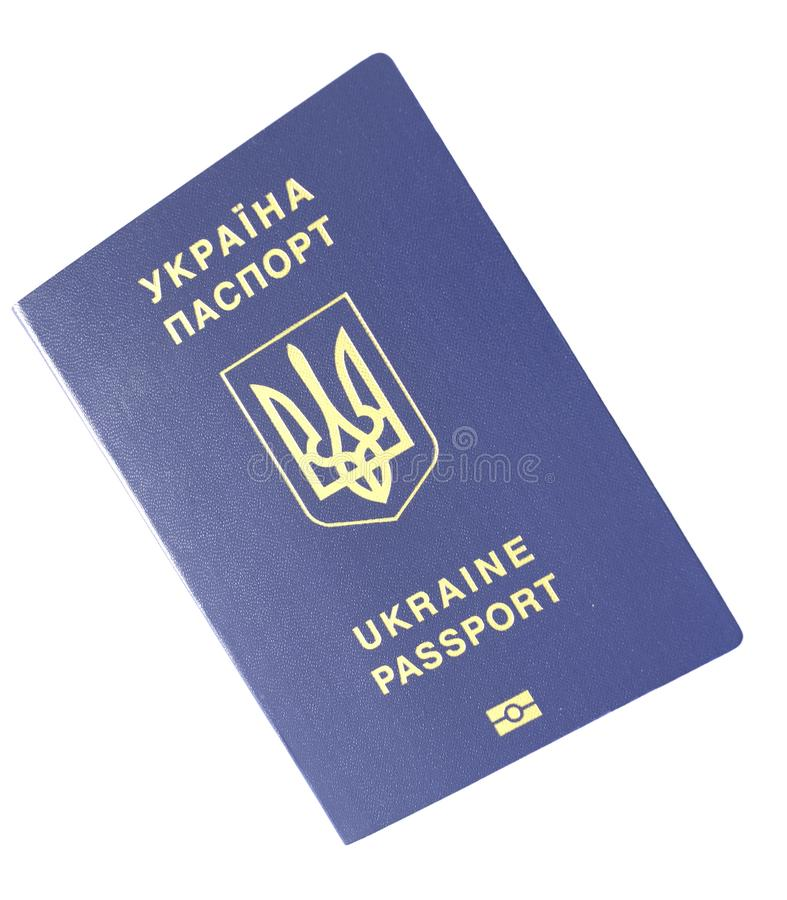 Ukrainian biometric passport royalty free stock photo
