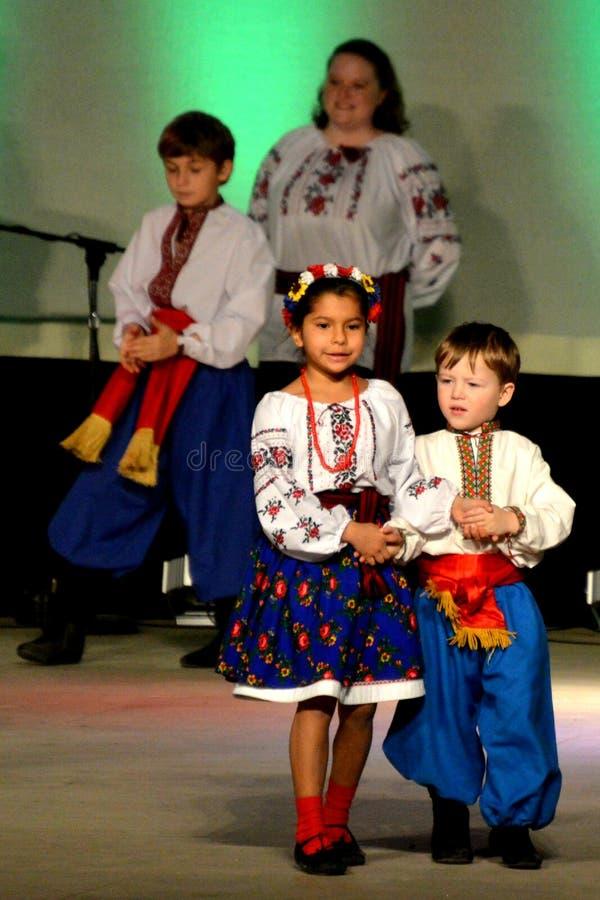 Ukrainian Boy and Girl Dancers stock photography