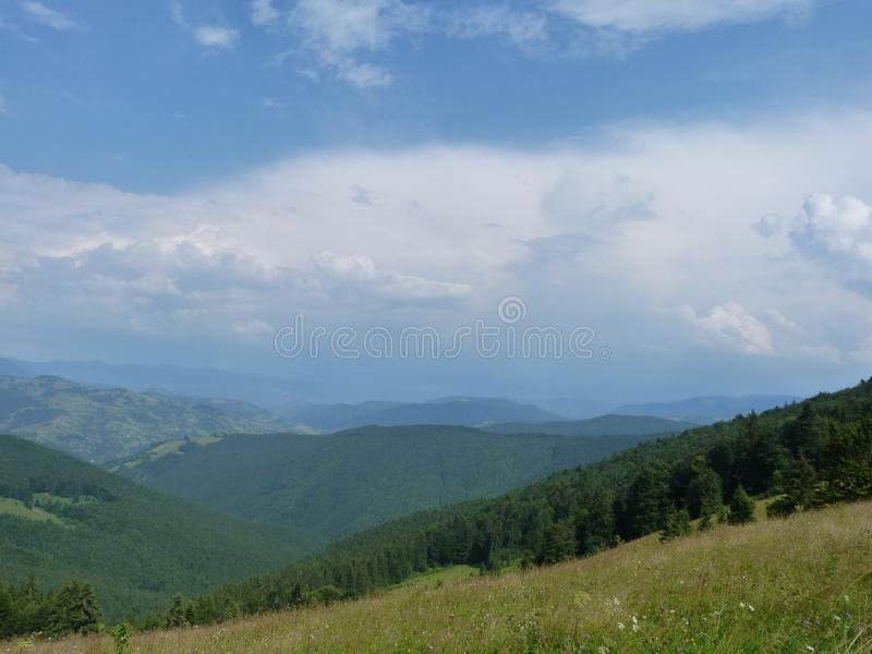 The Ukrainian Carpathians. royalty free stock photos
