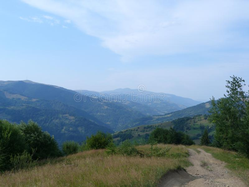 The Ukrainian Carpathians. stock images