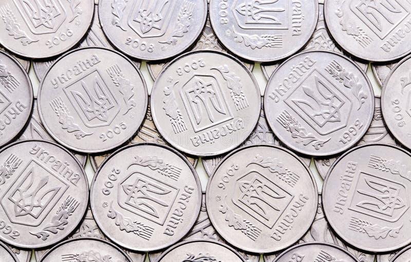 Ukrainian coins stock photo