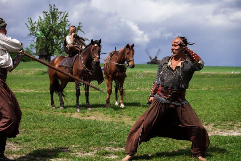 Ukrainian Cossacks stock image